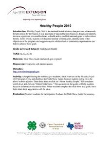 Healthy People 2010 Lesson Plan