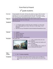 From Past to Present Lesson Plan