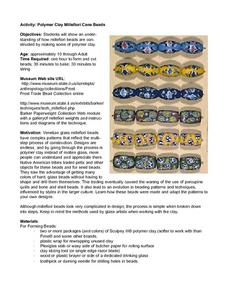 Polymer Clay Millefiori Cane Beads Lesson Plan