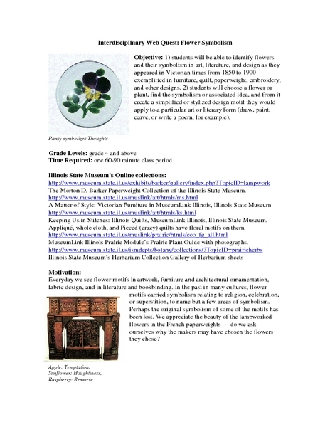 Flower Symbolism Lesson Plan