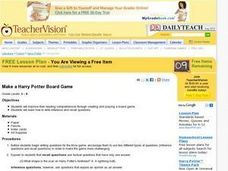 Make a Harry Potter Board Game Lesson Plan