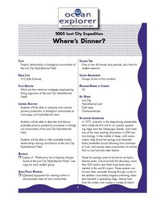 Where's Dinner? Lesson Plan