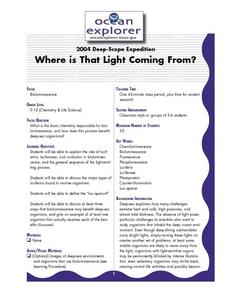 Where is That Light Coming From? Lesson Plan
