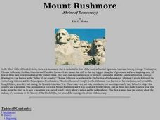 Mount Rushmore (Shrine of Democracy) Lesson Plan