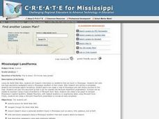 Mississippi Landforms Lesson Plan