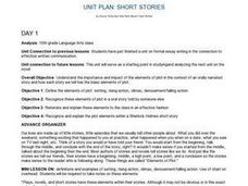 Unit Plan: Short Stories Lesson Plan