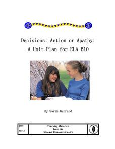 Decisions: Action or Apathy Lesson Plan