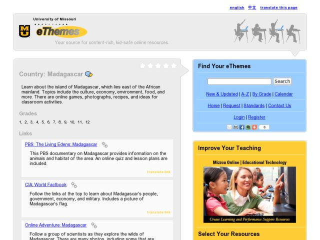 Country: Madagascar Lesson Plan