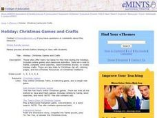 Holiday: Christmas Games and Crafts Lesson Plan