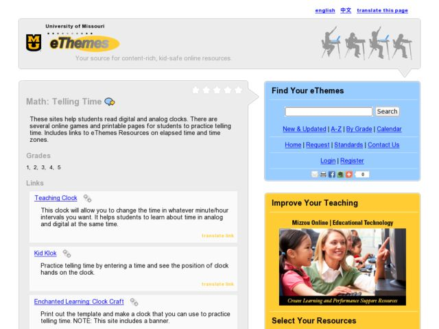 Telling Time - Online Games Lesson Plan