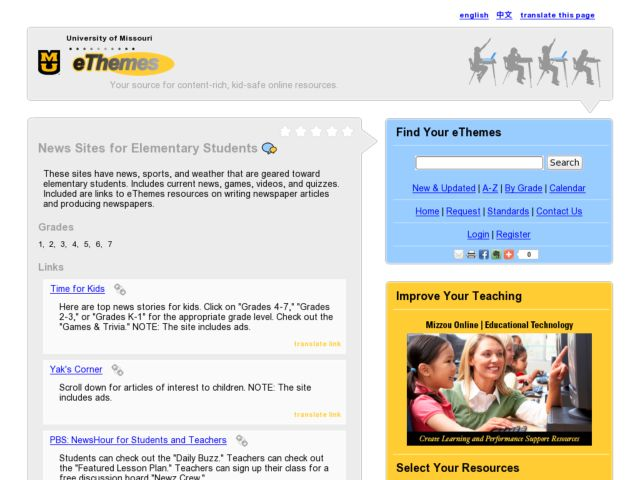 News Sites for Elementary Students Lesson Plan