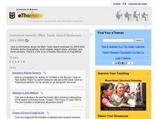 Mark Twain Award Nominees 2004-05 Lesson Plan