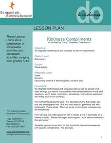 Kindness Compliments Lesson Plan