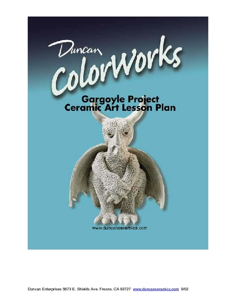 Gargoyles: Ceramics Lesson Plan