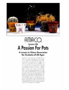 A Passion For Pots: A Lesson on Glaze Decoration Lesson Plan