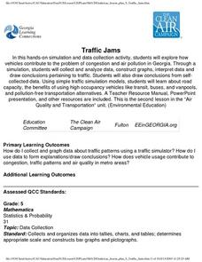 Traffic Jams Lesson Plan
