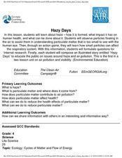 Hazy Days Lesson Plan