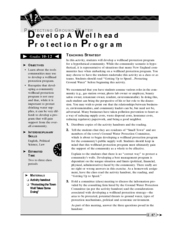 Develop a Wellhead Protection Program Lesson Plan