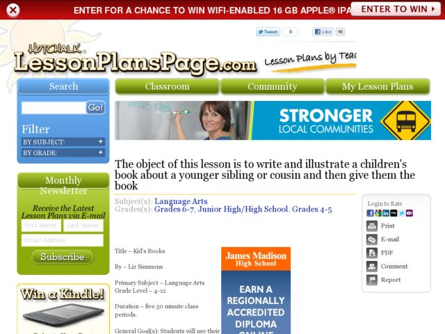 Kid's Books Lesson Plan