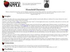 Household Chemistry Lesson Plan