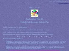 Multiple Intelligences Holistic Plan Lesson Plan
