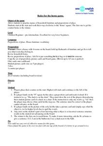 Rules For the Home Game Lesson Plan