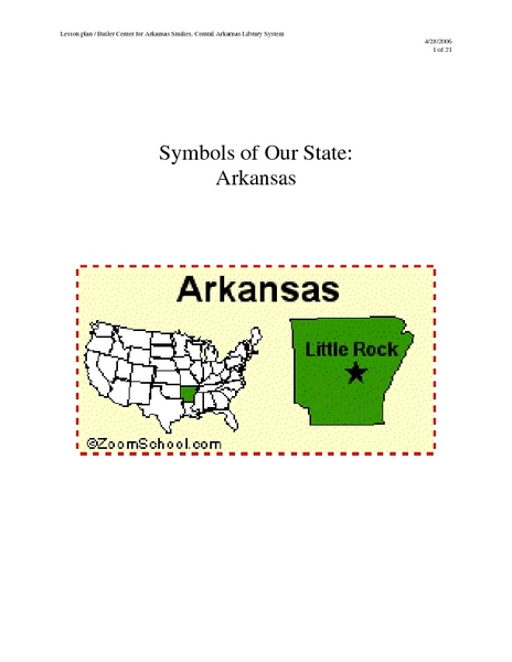 Symbols of Our State: Arkansas Lesson Plan