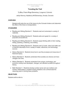 Traveling the Trail Lesson Plan