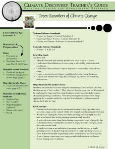 Trees: Recorders of Climate Change Lesson Plan