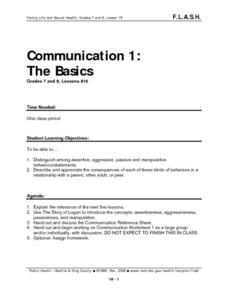 Communication 1: The Basics Lesson Plan