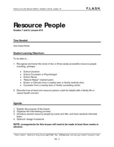 Resource People: lesson 15 Lesson Plan