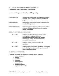 Comparing and Contrasting Two Poems Lesson Plan