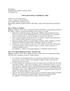Liberty and Security in Contemporary China Lesson Plan
