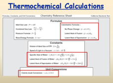 Thermochemical Calculations Presentation