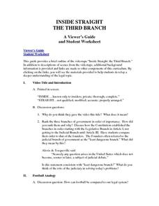 Inside Straight: the Third Branch Worksheet