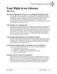 Your Right to an Attorney Lesson Plan