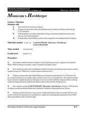 Minnesota v. Hershberger Lesson Plan