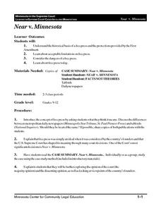 Near v. Minnesota Lesson Plan