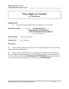 Whose Rights Are Violated? Lesson Plan