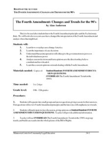 The Fourth Amendment: Changes and Trends for the 90's Lesson Plan