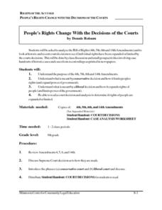 People's Rights Change With the Decisions of the Courts Lesson Plan