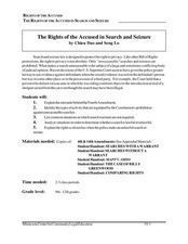 Rights of the Accused in Search and Seizure Lesson Plan