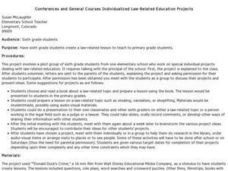Conferences and General Courses Individualized Law-Related Education Projects Lesson Plan