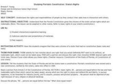 Studying Florida's Constitution: State's Rights Lesson Plan