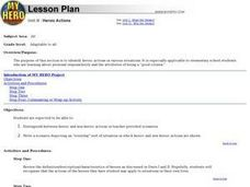 Heroic Actions Lesson Plan