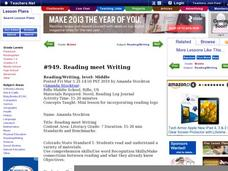 Reading Meet Writing Lesson Plan