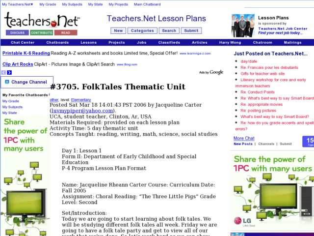 folk tales thematic unit lesson plan for 2nd grade lesson planet. Black Bedroom Furniture Sets. Home Design Ideas