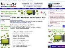 The American Revolution: A Play Lesson Plan