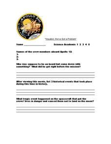 Worksheets Apollo 13 Worksheet apollo 13 questions 7th 10th grade worksheet lesson planet worksheet