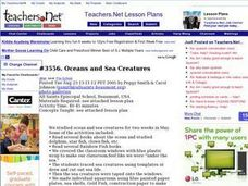 Oceans and Sea Creatures Lesson Plan